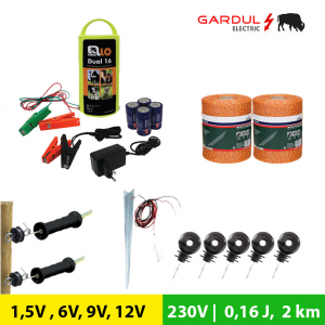 Kit gard electric 1.5V, 6V, 9V, 12V/ 230V 0.16J 2 km