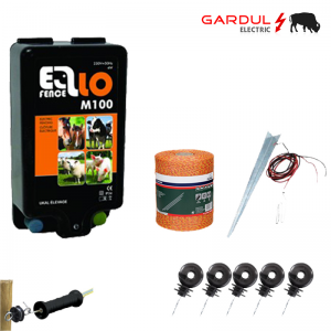 Kit gard electric, 230V - 10km, 250m fir ECO-Kit-uri gard electric / animale