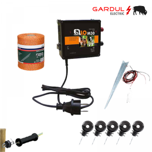 Kit gard electric, 12V - 18 km, 250m fir ECO-Kit-uri gard electric / animale