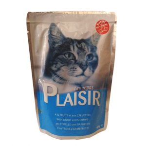 PLAISIR PASTRAV SI CREVETI 100G-PET SHOP