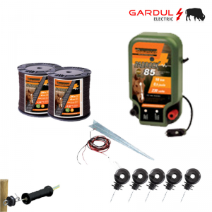 Kit gard electric 12V, 0.2 Joule, 6 km, 400m banda-Kit-uri gard electric / animale