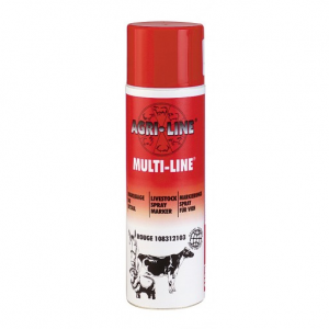 Spray marcare Multi Line Rosu