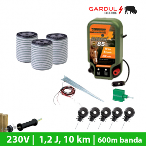 Kit gard electric 230V, 1.2 Joule, 10 km, 600m banda-Kit-uri gard electric / animale