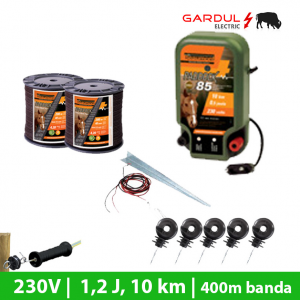 Kit gard electric 230V, 1.2 Joule, 10 km, 400m banda-Kit-uri gard electric / animale