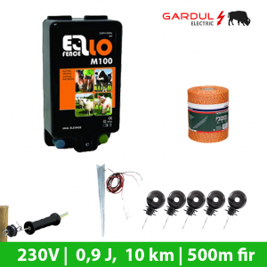 Kit gard electric M100 - 230V 10 km, 500m fir-Kit-uri gard electric / animale